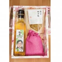 麻豆勇伯農產 柚子禮盒3入組 柚子醋+柚子香包+柚子乾