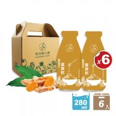 ★限時優惠★黃金活力薑黃飲2.0- 6入提盒組【特活綠小舖】