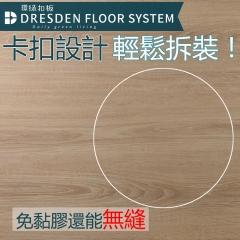 佳東綠能 | 環綠扣板 DIY卡扣 防水靜音耐磨石塑地板 10片/箱(0.68坪) 黃棕風★拼接地板