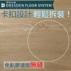 佳東綠能 | 環綠扣板 DIY卡扣 防水靜音耐磨石塑地板 10片/箱(0.68坪) 琥珀澄★拼接地板