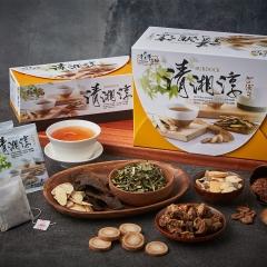 青玉牛蒡茶 清湘淳白鶴靈芝草牛蒡茶包(6g*50包/盒) 春節禮盒